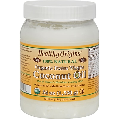 Healthy Origins Coconut Oil - Organic Extra Virgin - 54 oz