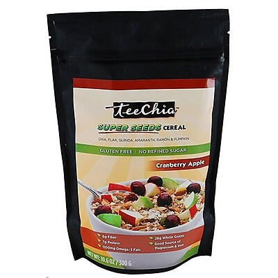 TeeChia Cereal - Super Seeds - Cranberry Apple - 10.6 oz - Case of 6