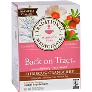 Traditional Medicinals Tea - Back on Tract - Hbscs Crnbrry - 16 ct - Case of 6
