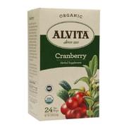 Alvita Tea - Organic - Cranberry Herbal - 24 Tea Bags