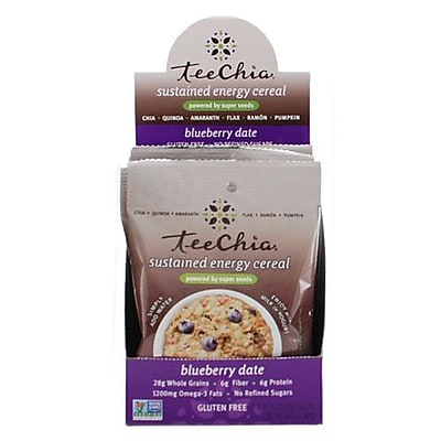 TeeChia Cereal - Sustained Energy - Blueberry Date - 1.76 oz - Case of 6