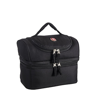 Swiss Gear® Insulated 2 Compartment Lunch Bag, Black