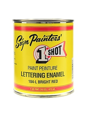 1-Shot Lettering Enamel Bright Red Pint Can (104-L PT)