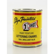 1-Shot Lettering Enamel Brilliant Blue Pint Can (156-L PT)
