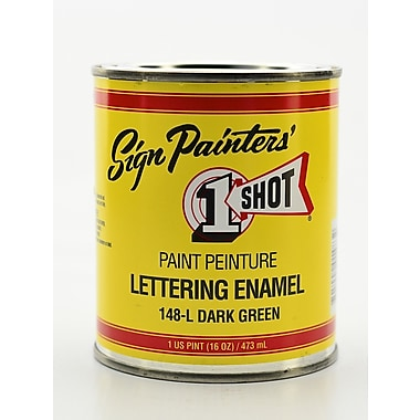 1-Shot Lettering Enamel Dark Green Pint Can (148-L PT)