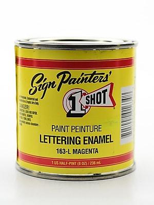 1-Shot Lettering Enamel Magenta Half Pint Can (163-L 1/2 PT)