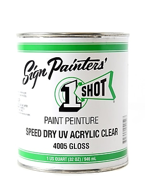 1-Shot Speed Dry Uv Acrylic Clear 32 Oz. (4005)