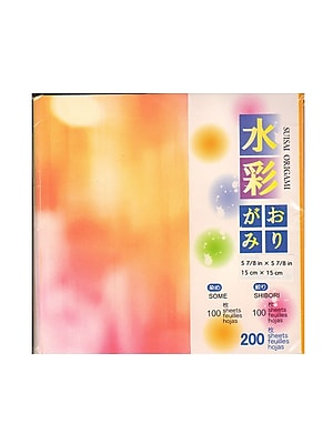 Aitoh Origami Paper 5 7/8 In. X 5 7/8 In. Tie Dye 200 Sheets (AI-1933/4-200)