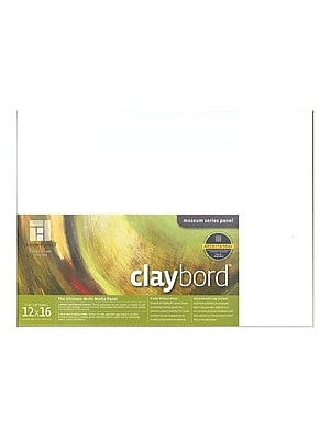 Ampersand Claybord 12 In. X 16 In. Each (CBS12)