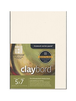 Ampersand Claybord 5 In. X 7 In. Pack Of 3 (CBS05)