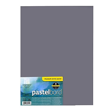 Ampersand Pastelbord 12 In. X 16 In. Gray Each [Pack Of 2] (2PK-PB12)