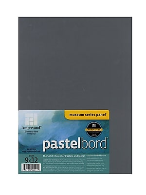 Ampersand Pastelbord 9 In. X 12 In. Gray Each [Pack Of 2] (2PK-PB09)