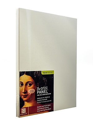 Ampersand The Artist Panel Canvas Texture Cradled Profile 11 In. X 14 In. 3/4 In. [Pack Of 2] (2PK-APC.75 1114)