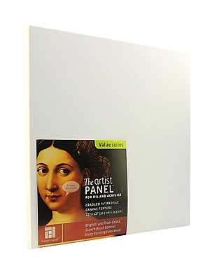 Ampersand The Artist Panel Canvas Texture Cradled Profile 12 In. X 12 In. 3/4 In. (APC.75 122)