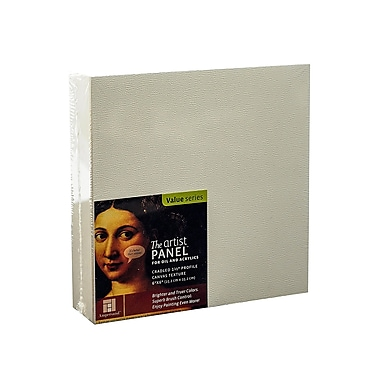 Ampersand The Artist Panel Canvas Texture Cradled Profile 6 In. X 6 In. 1 1/2 In. (APC1.5 066)