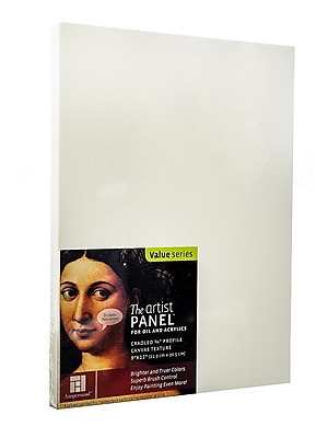 Ampersand The Artist Panel Canvas Texture Cradled Profile 9 In. X 12 In. 3/4 In. [Pack Of 2] (2PK-APC.75 912)