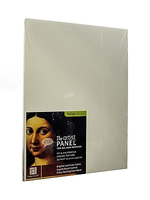 Ampersand The Artist Panel Canvas Texture Flat Profile 11 In. X 14 In. 3/8 In. (AP9M1114)