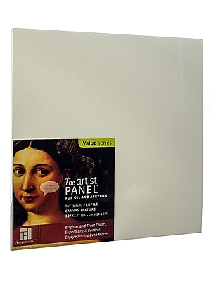 Ampersand The Artist Panel Canvas Texture Flat Profile 12 In. X 12 In. 3/8 In. (AP9M122)