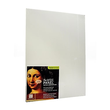 Ampersand The Artist Panel Canvas Texture Flat Profile 12 In. X 16 In. 3/8 In. (AP9M1216)