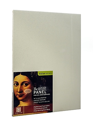 Ampersand The Artist Panel Canvas Texture Flat Profile 9 In. X 12 In. 3/8 In. (AP9M912)