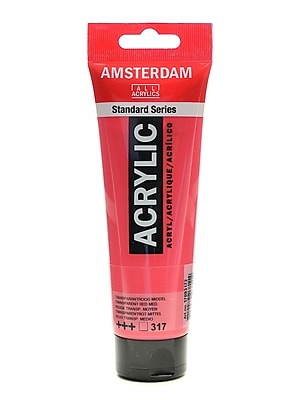 Amsterdam Standard Series Acrylic Paint Transparent Red Medium 120 Ml [Pack Of 3] (3PK-100515157)