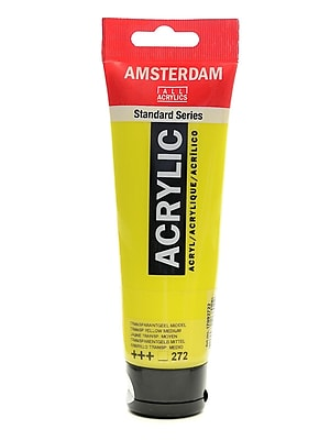 Amsterdam Standard Series Acrylic Paint Transparent Yellow Medium 120 Ml [Pack Of 3] (3PK-100515147)