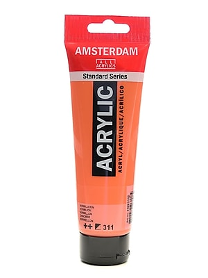 Amsterdam Standard Series Acrylic Paint Vermilion 120 Ml [Pack Of 3] (3PK-100515154)