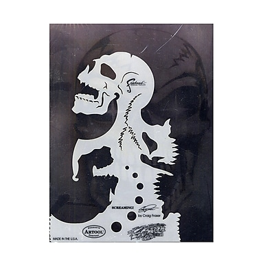 Artool Skull Master Feehand Airbrush Templates By Craig Fraser 6 1/4 In. X 8 3/4 In. The Screaming (FH-SK3 SP)