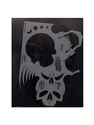 Artool Skull Master Feehand Airbrush Templates By Craig Fraser 7 In. X 9 3/4 In. The Frontal (FH-SK2 SP)