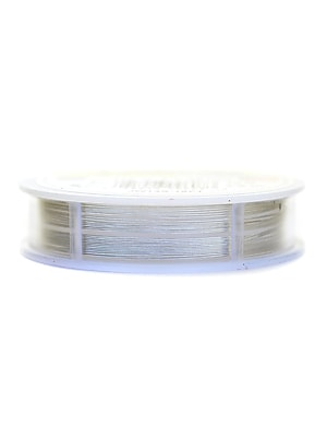 Beadalon 19 Strand Bead Stringing Wire Metallic Silver Color .015 In. (0.38 Mm) 15 Ft. Spool (JW14S-15FT)