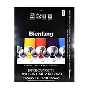 Bienfang Canvasette Paper Canvas 16 In. X 20 In. Pad Of 10 Sheets (270151)