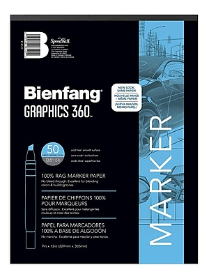 Bienfang Graphics 360 100% Rag Translucent Marker Paper 11 In. X 14 In. Pad Of 100 (316230)