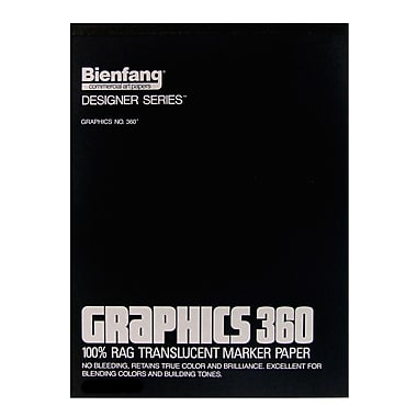 Bienfang Graphics 360 100% Rag Translucent Marker Paper 14 In. X 17 In. Pad Of 100 (316242)