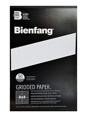 Bienfang Gridded Paper 8 X 8 11 In. X 17 In. Pad Of 50 [Pack Of 2] (2PK-910594)