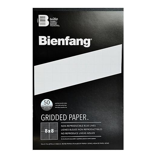 Bienfang Gridded Paper 8 X 8 11 In. X 17 In. Pad Of 50 [Pack Of 2] (2PK-910594)