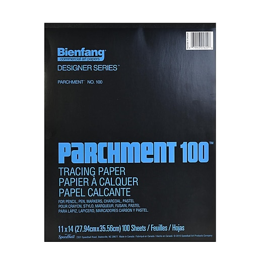 Bienfang Parchment 100 Tracing Paper 11 In. X 14 In. Pad Of 100 Sheets (240230)