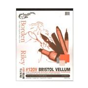 Borden  And  Riley #120 Bristol Pad 11 In. X 14 In. Vellum Finish (12VP111420)