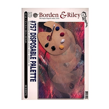 Borden And Riley #757 Disposable Palette Pad 9 In. X 12 In. [Pack Of 2] (2PK-PALP091250)