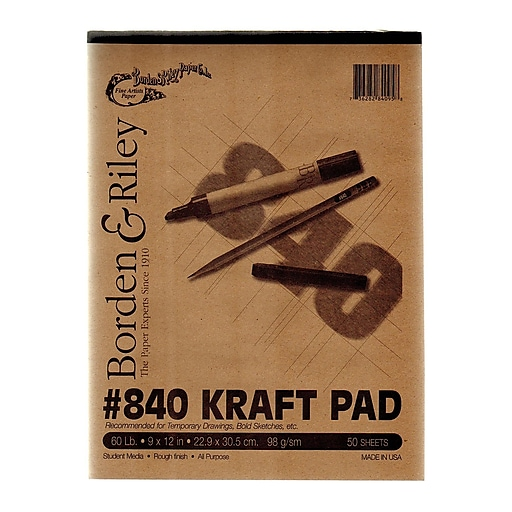 Borden  And  Riley #840 60 Lb Kraft Paper 9 In. X 12 In. 50 Sheets [Pack Of 3] (3PK-840P091250)