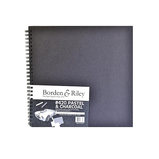 Borden  And  Riley 420 Charcoal/Pastel Paper 9 In. X 9 In. 40 Sheets (420B090940)