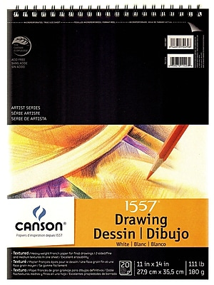 Canson C A Grain Drawing Paper Pads 11 In. X 14 In. [Pack Of 2] (2PK-100510887)