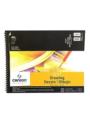Canson C A Grain Drawing Paper Pads 14 In. X 17 In. [Pack Of 2] (2PK-100510888)
