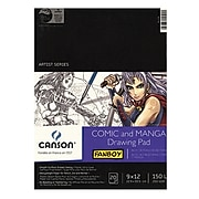 "Canson Fanboy Comic And Manga 9"" x 12"" Drawing Pad, 20 Sheets (100510882)"