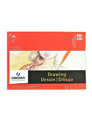 Canson Foundation Drawing Pad, 18 In. x 24 In., Pack Of 2 (2PK-100510981)