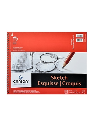 Canson Foundation Sketch Pads 14 In. X 17 In. 50 Sheets [Pack Of 2] (2PK-100511032)
