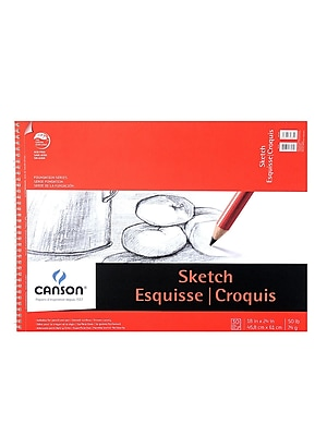 Canson Foundation Sketch Pads 18 In. X 24 In. 50 Sheets [Pack Of 2] (2PK-100511034)