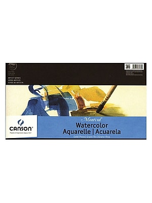 Canson Montval Watercolor Paper 10 In. X 15 In. Pad Of 12 Tape Bound 140 Lb. Cold Press [Pack Of 2] (2PK-100511052)