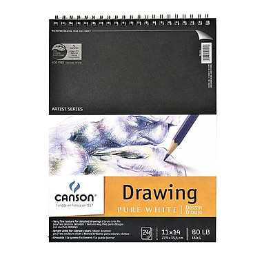 Canson Pure White Drawing Pads 11 In. X 14 In. [Pack Of 2] (2PK-100510891)