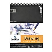 Canson Pure White Drawing Pads, 11 In. x 14 In. (100510891)