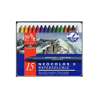 Caran D'Ache Neocolor Ii Aquarelle Water Soluble Wax Pastel Sets Set Of 15 (7500-315)
